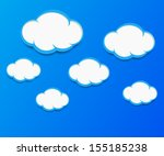 cloud vector background | Shutterstock .eps vector #155185238