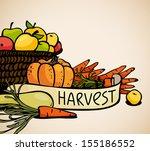 harvest of vegetables and... | Shutterstock .eps vector #155186552
