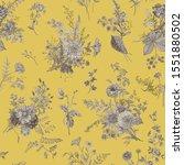 vintage floral illustration.... | Shutterstock .eps vector #1551880502
