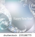 greeting new year card. vector... | Shutterstock .eps vector #155188775