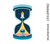 the time of intergalactic...   Shutterstock .eps vector #1551898982