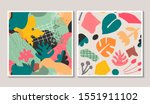 set of vector colorful collage... | Shutterstock .eps vector #1551911102