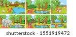 background scenes of animals in ... | Shutterstock .eps vector #1551919472