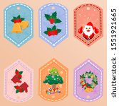 collection of christmas... | Shutterstock .eps vector #1551921665