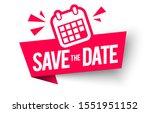 vector illustration save the... | Shutterstock .eps vector #1551951152