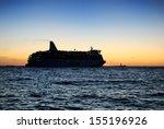 passenger ferry leaving port at ...   Shutterstock . vector #155196926