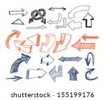drawn arrows | Shutterstock .eps vector #155199176