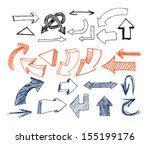 drawn arrows | Shutterstock .eps vector #155199176