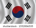 the national flag of south... | Shutterstock .eps vector #1552006535