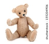 Handmade Teddy Bear Isolated O...