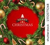 beautiful christmas greeting... | Shutterstock .eps vector #1552075268