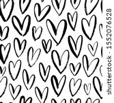 Heart Seamless Pattern. Black...