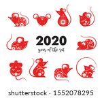 happy chinese new year design.... | Shutterstock .eps vector #1552078295