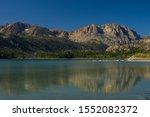 Carson Peak Above June Lake In...