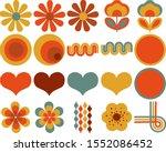 retro flower power design... | Shutterstock .eps vector #1552086452