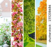 Four Seasons Collage.  Set Of...