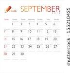 Vector Calendar 2014 September