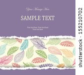 invitation card with colorful... | Shutterstock .eps vector #155210702