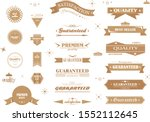 retro banner and ribbon design... | Shutterstock .eps vector #1552112645