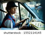 African american female courier ...