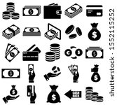 money and payment icons  logo... | Shutterstock .eps vector #1552115252