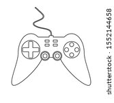game console on white...   Shutterstock .eps vector #1552144658