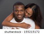 happy young african american... | Shutterstock . vector #155215172