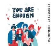 you are enough scandinavian...   Shutterstock .eps vector #1552168985