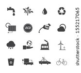 black and white eco icons set 2 | Shutterstock .eps vector #155217065
