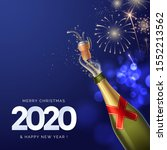 2020 happy new year greeting... | Shutterstock .eps vector #1552213562