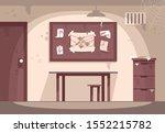 empty police cabinet flat... | Shutterstock .eps vector #1552215782