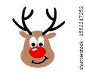 christmas deer cute files. deer ... | Shutterstock .eps vector #1552217252