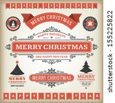 christmas decoration vector... | Shutterstock .eps vector #155225822