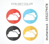 cloud icon in trendy flat style ... | Shutterstock .eps vector #1552279478