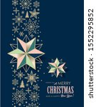 christmas greeting card  poster ... | Shutterstock .eps vector #1552295852