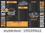 food menu. creative menu design.... | Shutterstock .eps vector #1552355612