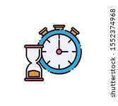 chronometer and hourglass... | Shutterstock .eps vector #1552374968