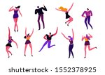 young people at music festival  ...   Shutterstock .eps vector #1552378925