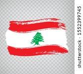 flag lebanon from brush strokes.... | Shutterstock .eps vector #1552399745