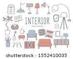 relaxed interior furniture and...   Shutterstock .eps vector #1552410035