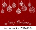 christmas background. various... | Shutterstock .eps vector #155241326
