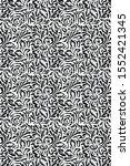 black and white pattern design... | Shutterstock . vector #1552421345