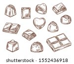 chocolate candies and sweets...   Shutterstock .eps vector #1552436918