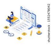 concept of online exam  online... | Shutterstock .eps vector #1552478042