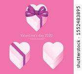 valentine's day 2020 paper... | Shutterstock .eps vector #1552483895
