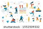 healthy lifestyle  outdoor... | Shutterstock .eps vector #1552509332