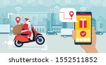 contemporary santa claus riding ... | Shutterstock .eps vector #1552511852