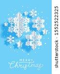 christmas vertical greeting... | Shutterstock .eps vector #1552522325