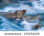 Rapid Clacier River With Rocks