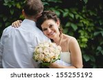 beautiful loving couple of... | Shutterstock . vector #155255192